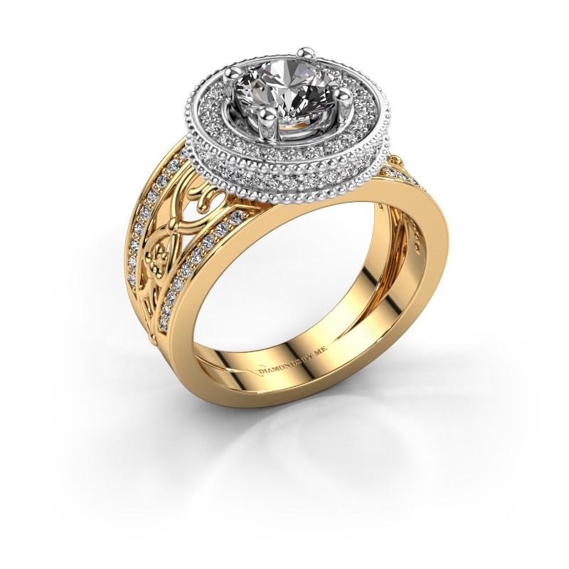Ring Joy 585 gold zirconia 6.5 mm