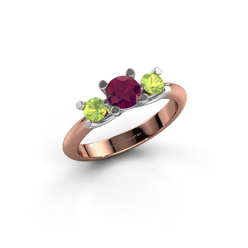 Ring Mirthe 585 Roségold Rhodolit 5 mm