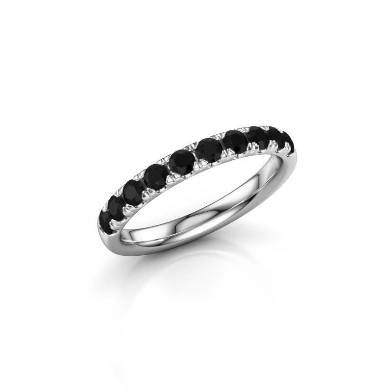 Aanschuifring Jackie Half 585 witgoud zwarte diamant 0.66 crt