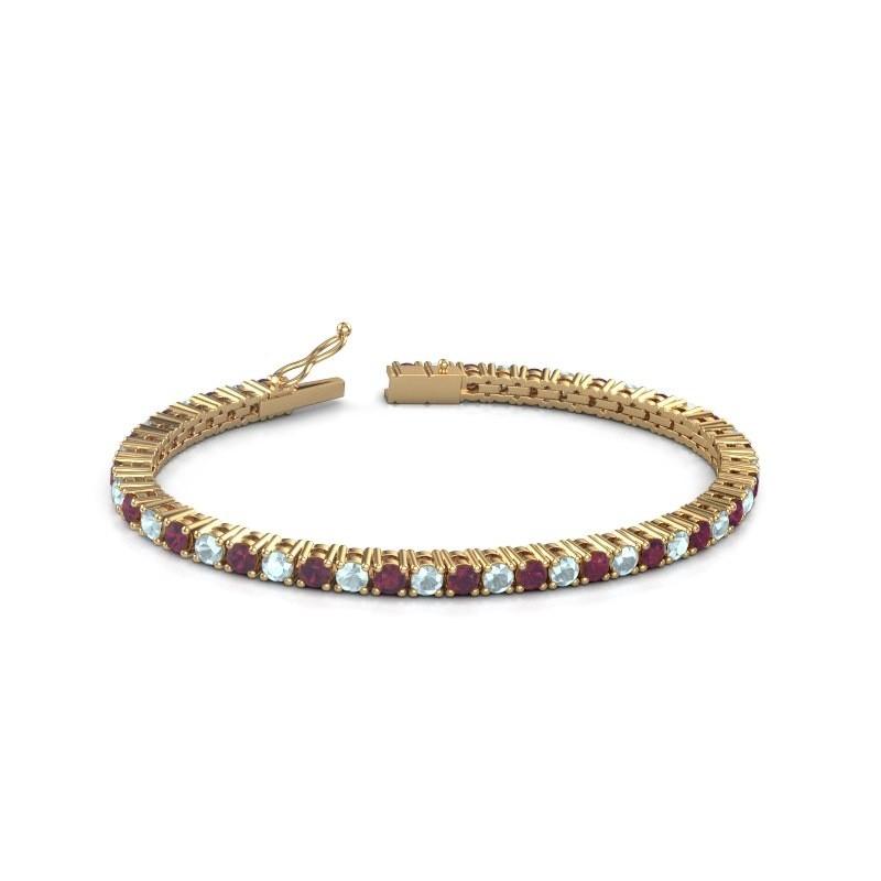 Tennisarmband Jenny 375 goud rhodoliet 3.5 mm