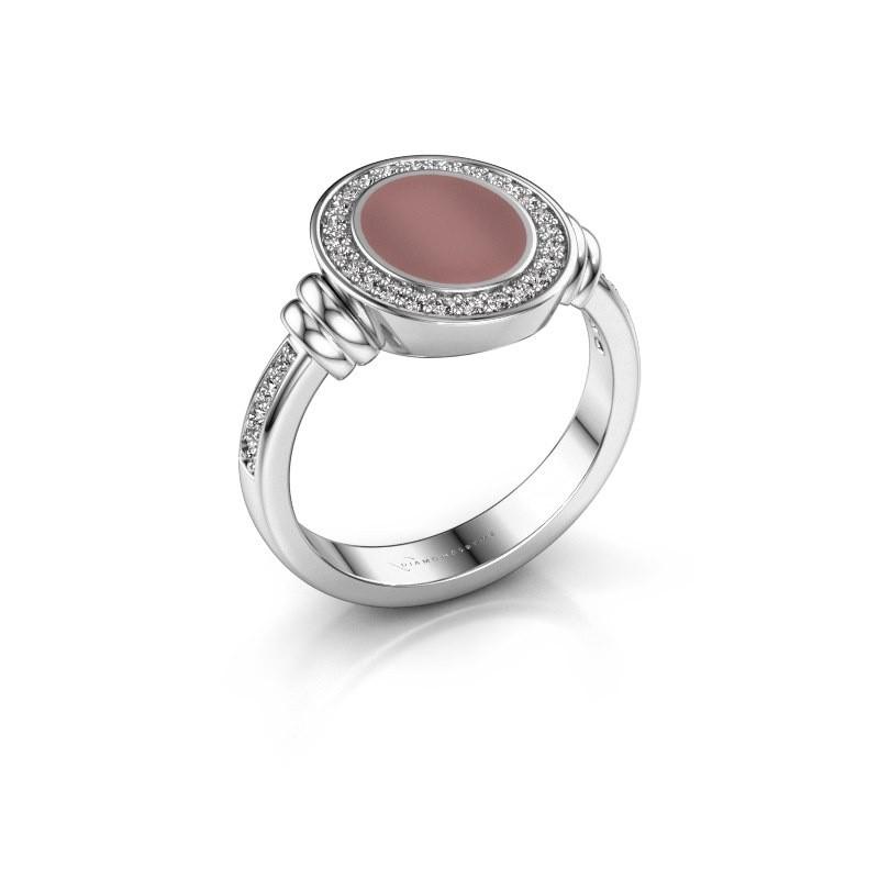 Signet ring Bailey 925 silver carnelian 10x8 mm