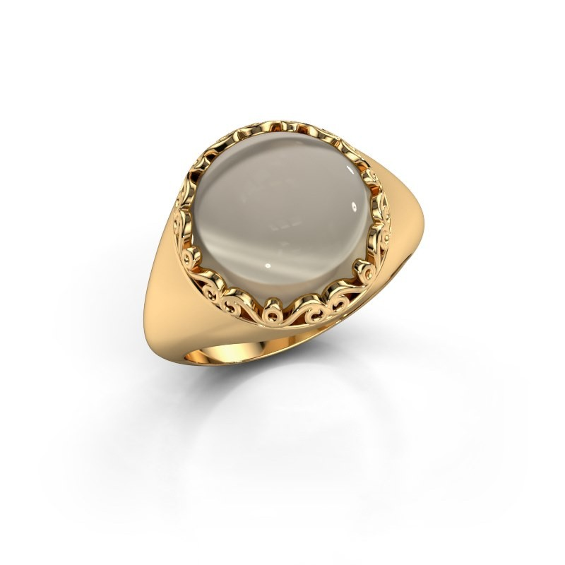 Ring Birgit 585 goud rookkwarts 12 mm