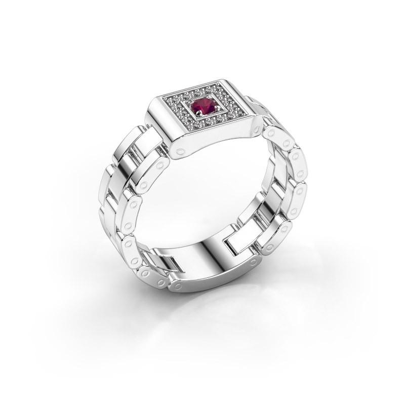 Rolex stijl ring Giel 950 platina rhodoliet 2.7 mm