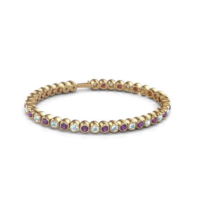 Tennisarmband Mellisa 375 goud amethist 3.5 mm