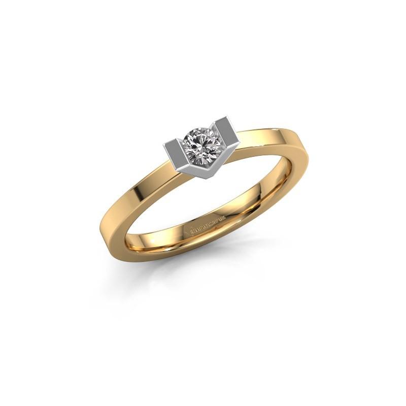 Verlobungsring Sherley 1 585 Gold Diamant 0.15 crt