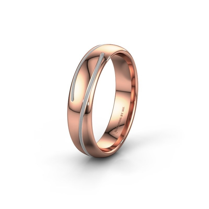 Trouwring WH0152M25A 585 rosé goud ±5x1.7 mm
