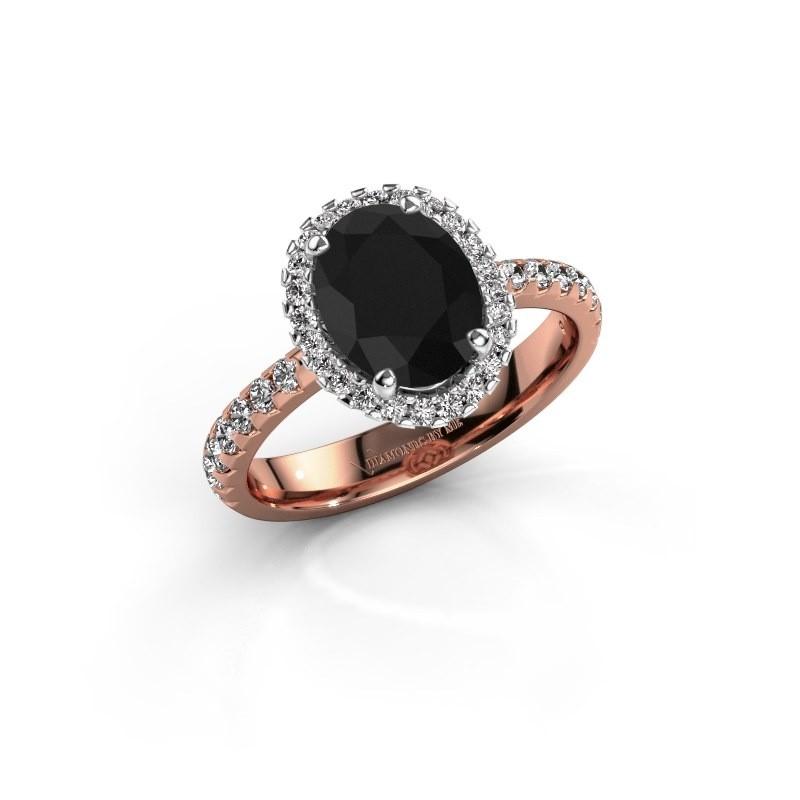 Verlovingsring Lavelle 585 rosé goud zwarte diamant 2.652 crt