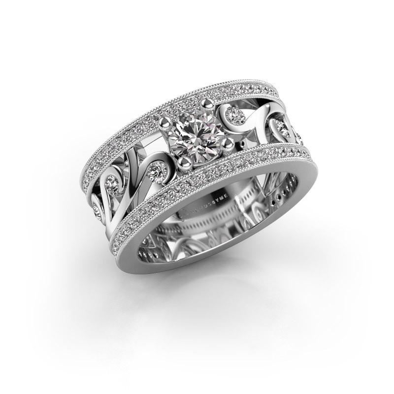 Ring Sanne 925 zilver diamant 1.13 crt