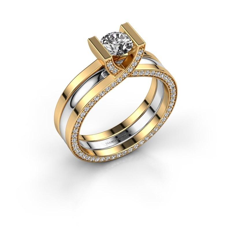 Verlobungsring Kenisha 585 Gold Zirkonia 5 mm