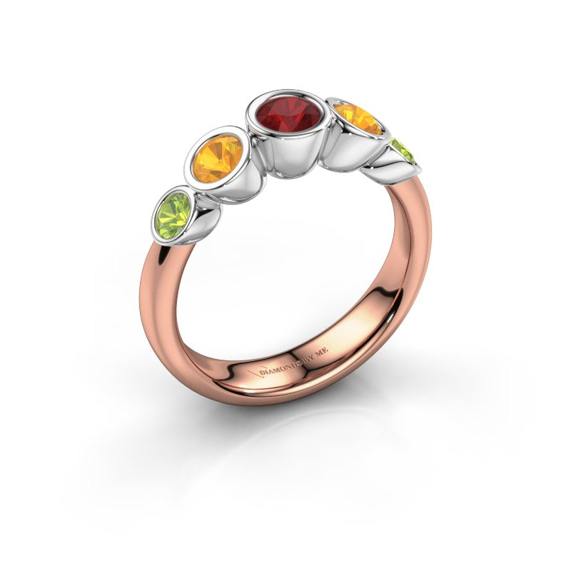 Ring Lizz 585 rose gold ruby 4 mm