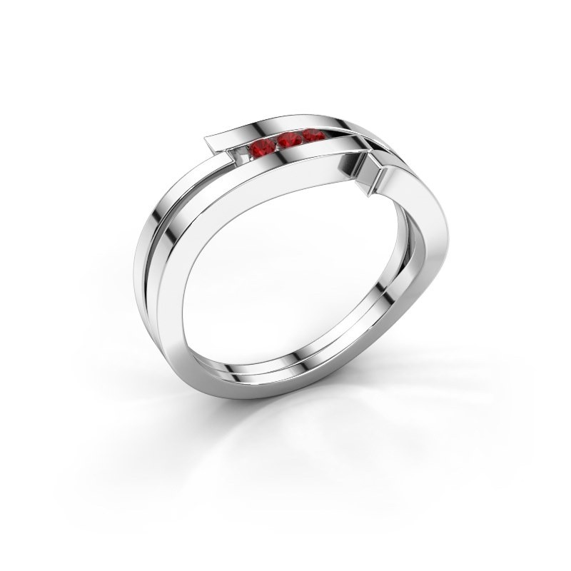Ring Amelie 585 white gold ruby 1.7 mm