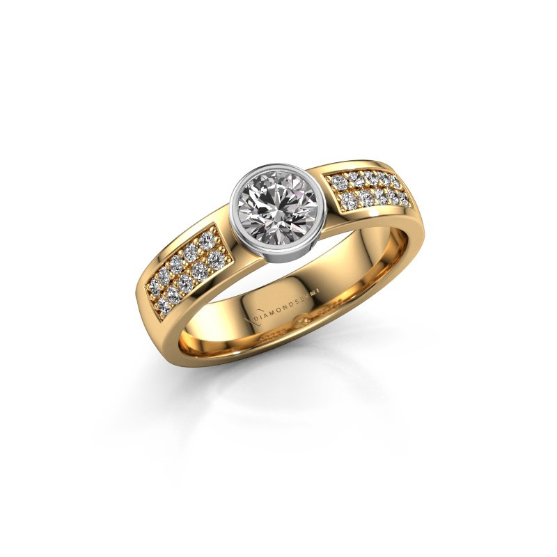 Engagement ring Ise 3 585 gold zirconia 4.7 mm