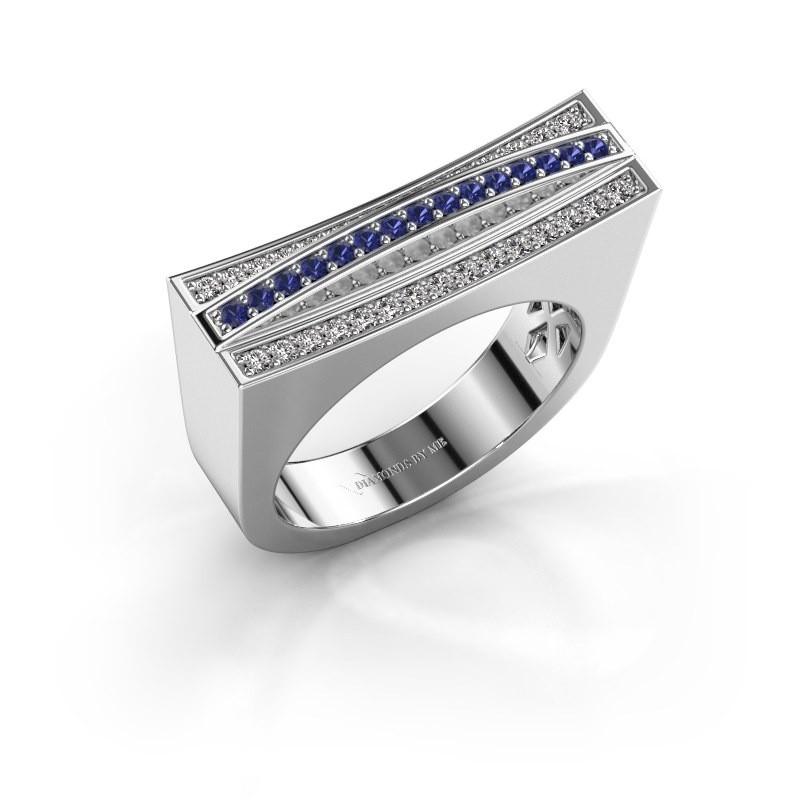 Ring Erma 925 zilver saffier 1.2 mm