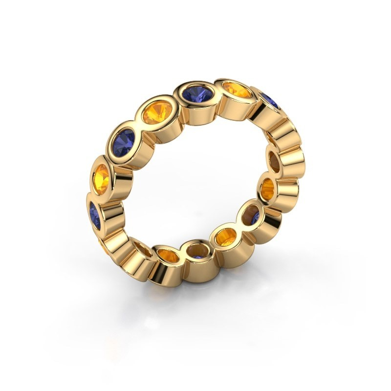 Stackable ring Edwina 3 375 gold sapphire 3 mm