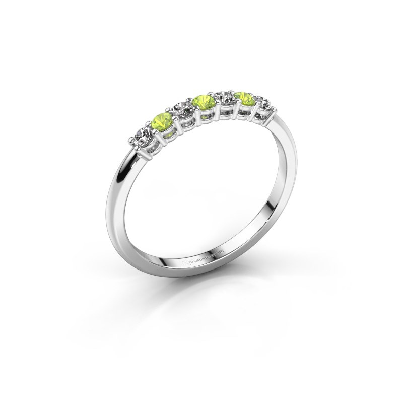 Engagement ring Michelle 7 925 silver peridot 2 mm