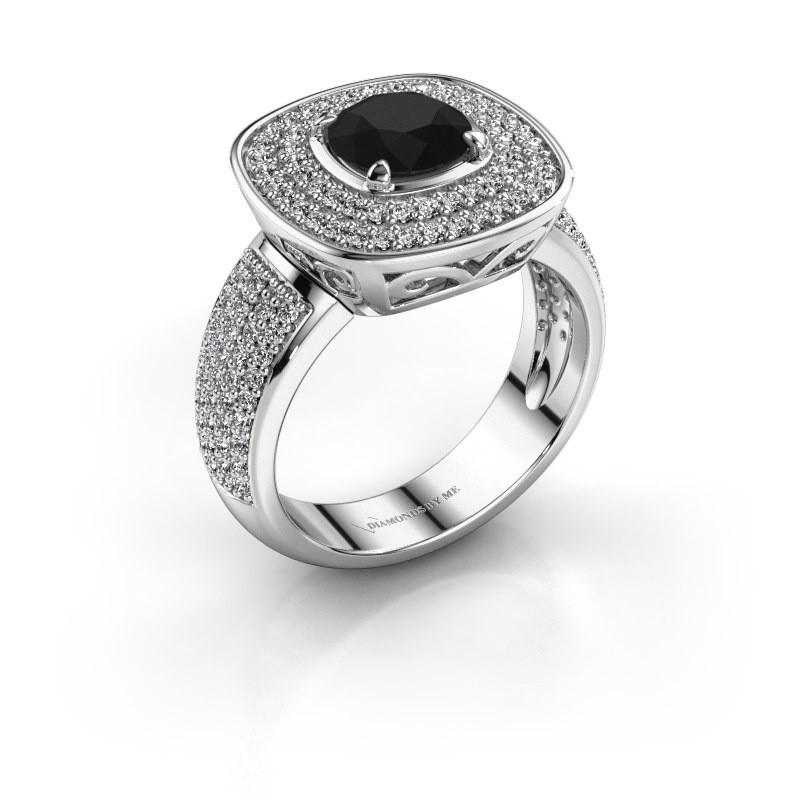 Ring Eliana 585 witgoud zwarte diamant 1.70 crt