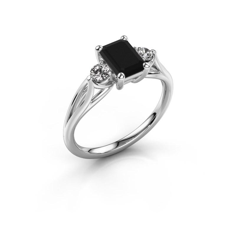 Verlovingsring Amie EME 950 platina zwarte diamant 1.580 crt