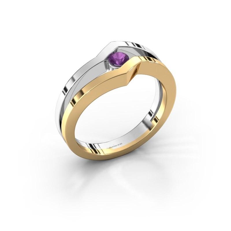 Ring Elize 585 goud amethist 3.4 mm