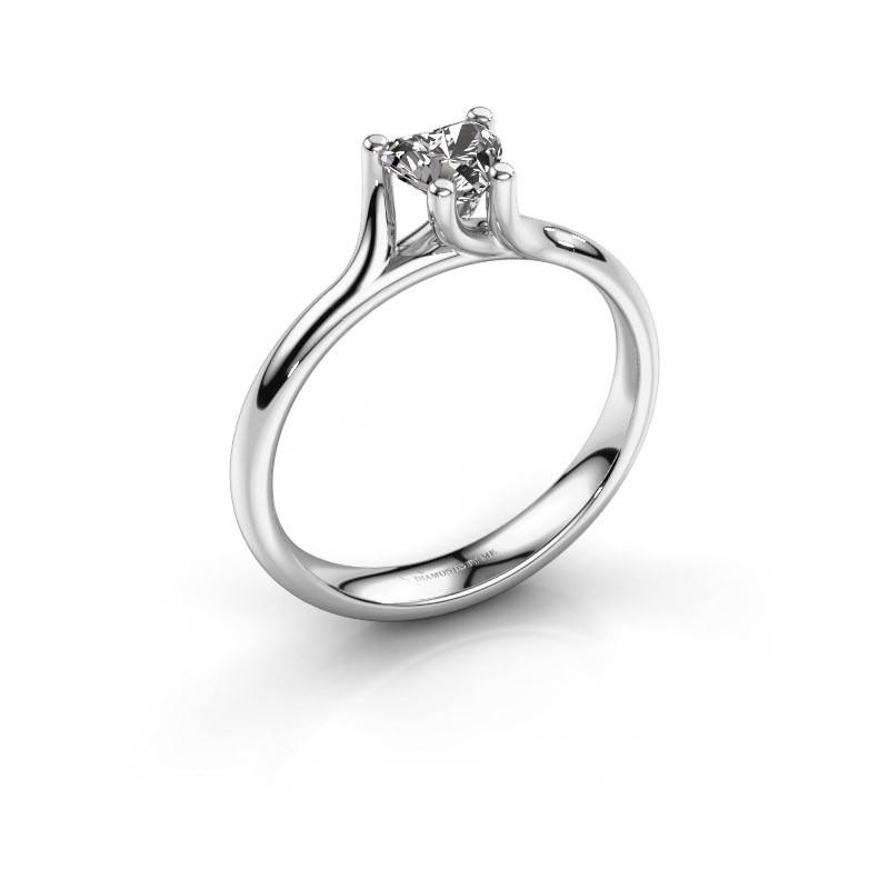 Verlobungsring Dewi Heart 585 Weißgold Zirkonia 5 mm