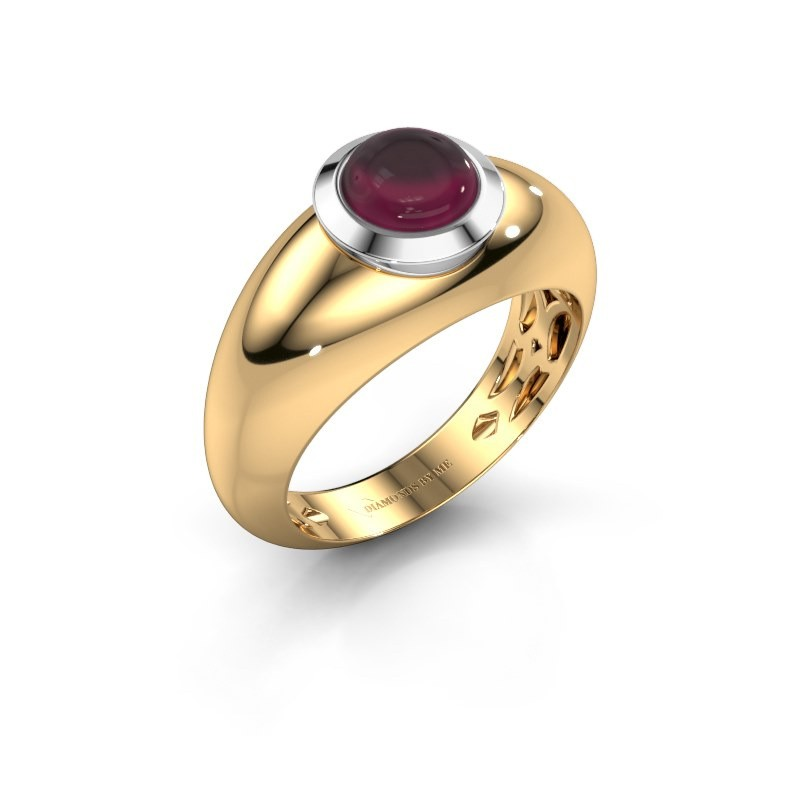 Bague Sharika 585 or jaune rhodolite 6 mm