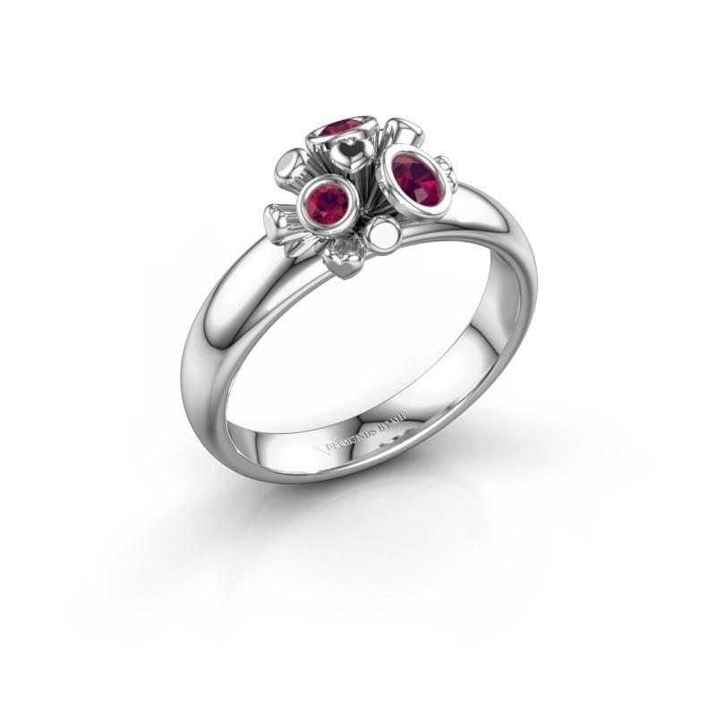 Ring Pameila 925 zilver rhodoliet 2 mm