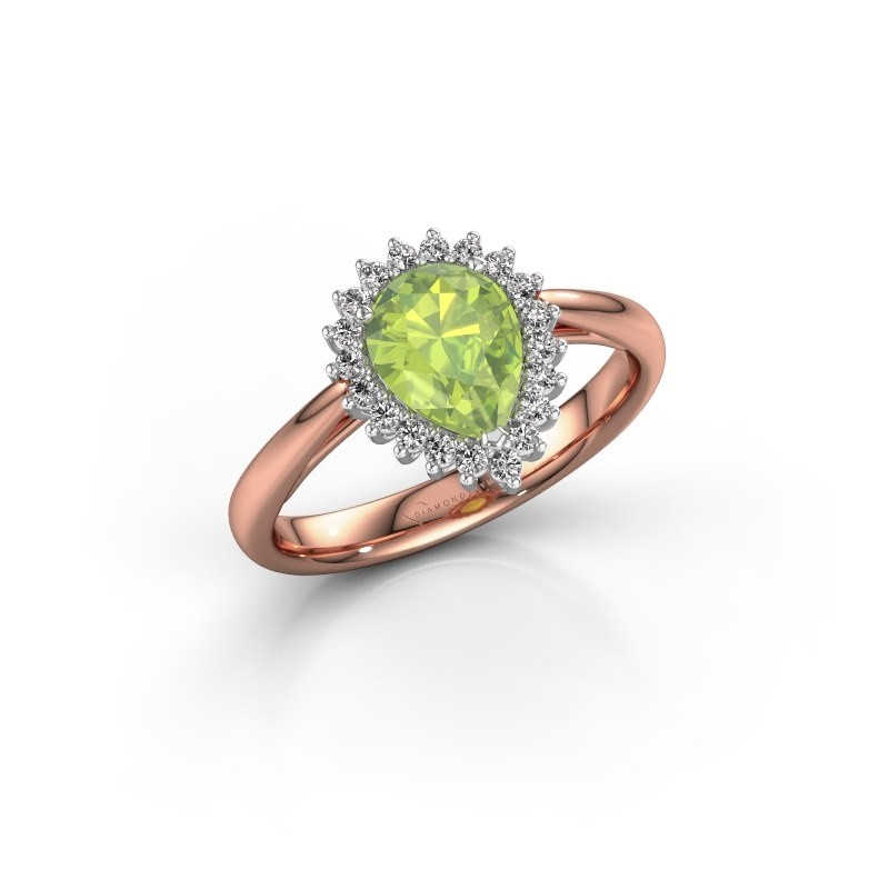 Engagement ring Tilly per 1 585 rose gold peridot 8x6 mm