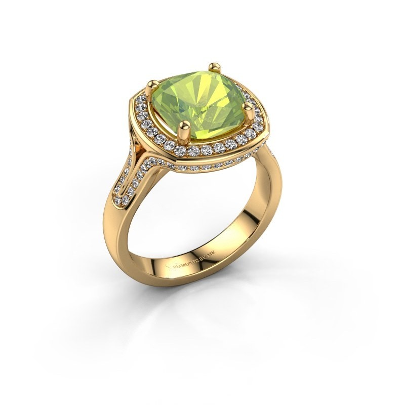 Ring Lili 375 goud peridoot 9 mm