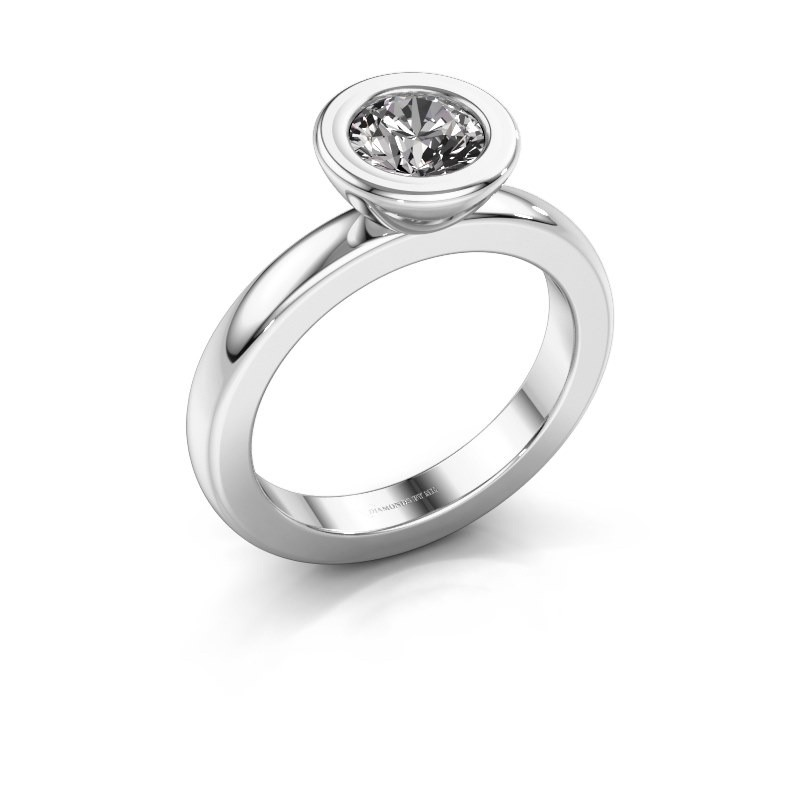 Stapelring Eloise Round 950 platina lab-grown diamant 0.80 crt