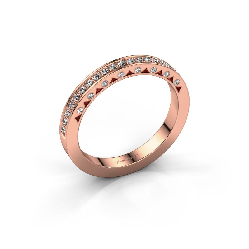 Ring Yasmine 585 rosé goud zirkonia 1.2 mm