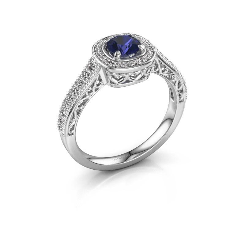 Verlovings ring Candi 925 zilver saffier 5 mm