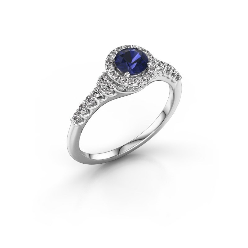 Sapphire Wedding Rings.Engagement Ring Loralee 585 White Gold Sapphire 5 Mm