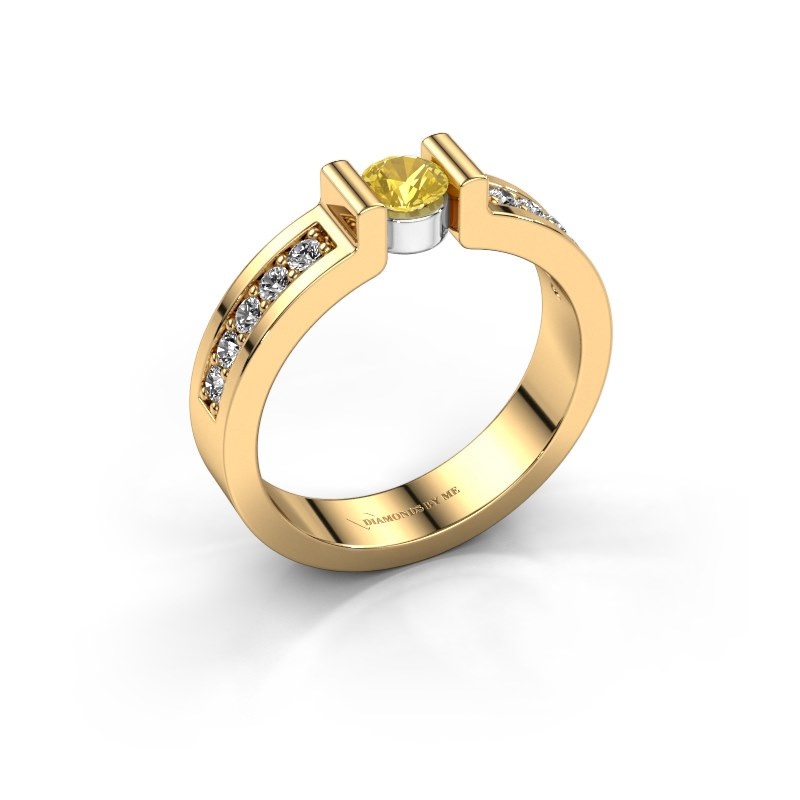 Engagement ring Isabel 2 585 gold yellow sapphire 4 mm