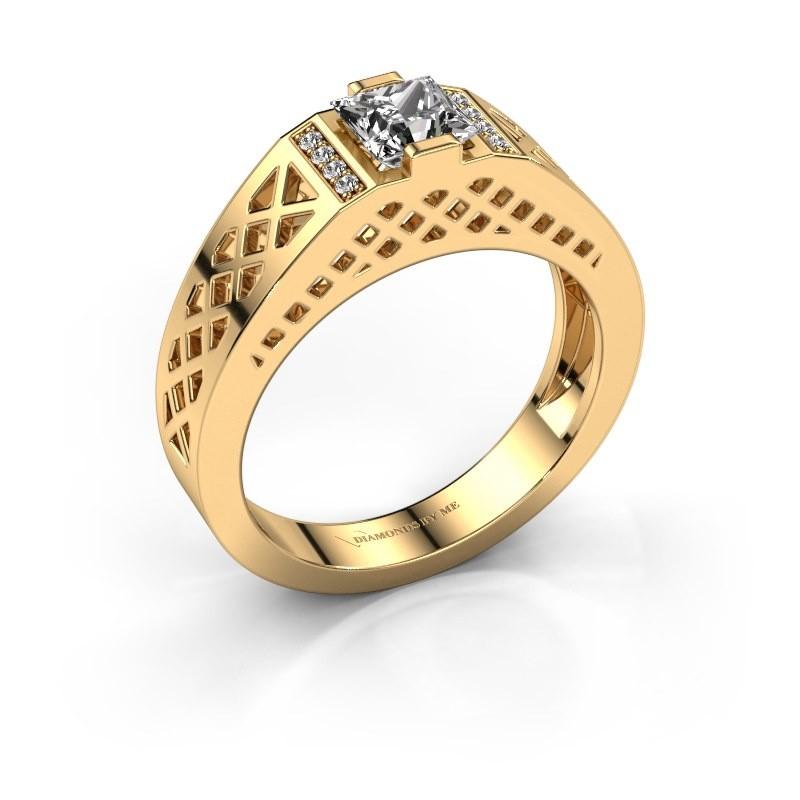 Men's ring Jonathan 585 gold lab-grown diamond 0.834 crt