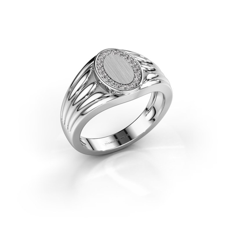 Pinky Ring Marinus 375 Weißgold Diamant 0.15 crt