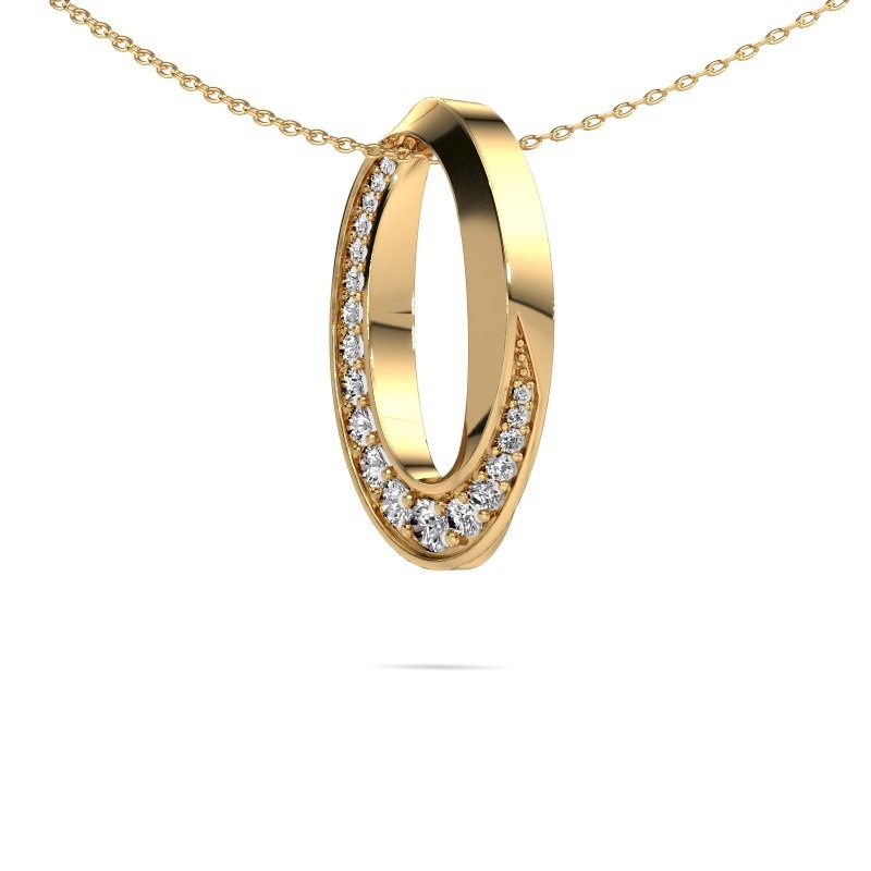 Elegant Modern Gold Cz Stones Set Necklace Zola Design Yourself