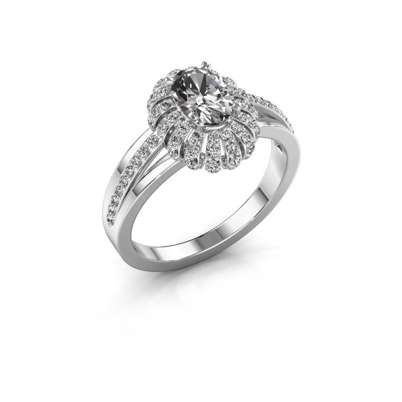 Engagement ring Twila 585 white gold diamond 0.80 crt