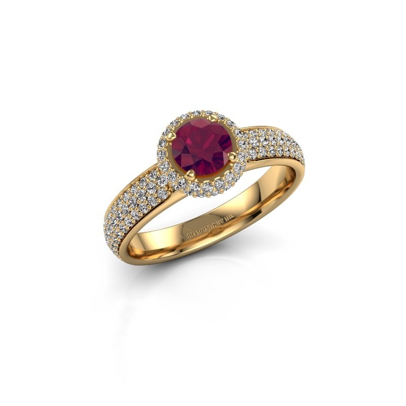 Engagement ring Mildred 375 gold rhodolite 5 mm
