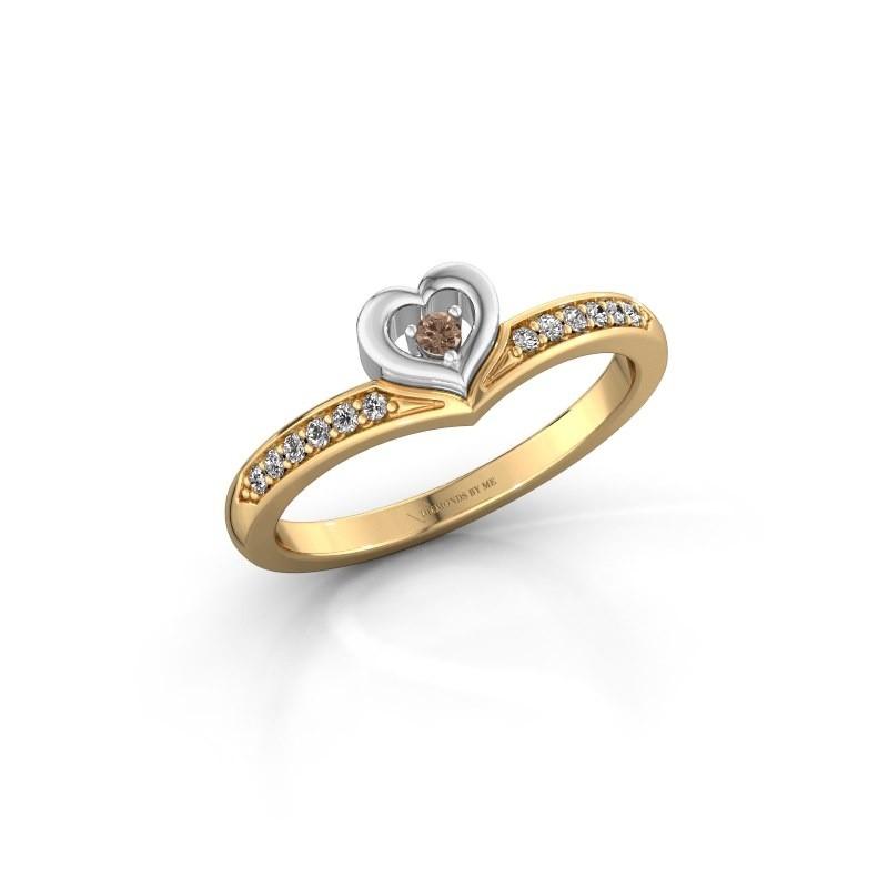 Ring Mimi 585 goud bruine diamant 0.118 crt