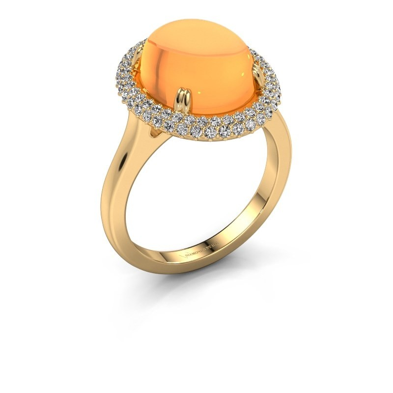 Ring Jayna 585 goud citrien 12x10 mm
