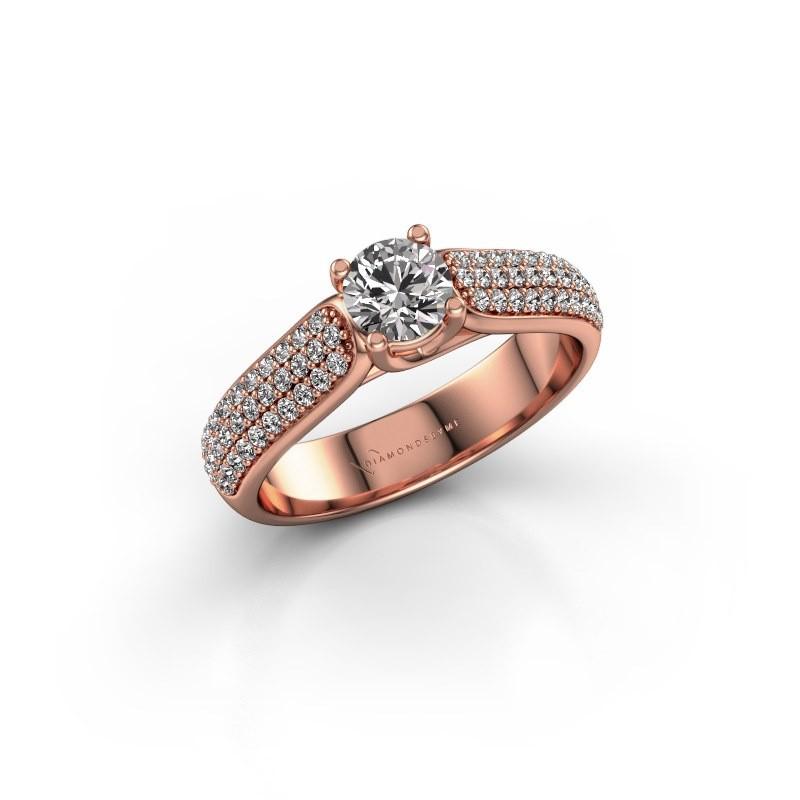 Engagement ring Leoness 375 rose gold diamond 0.40 crt
