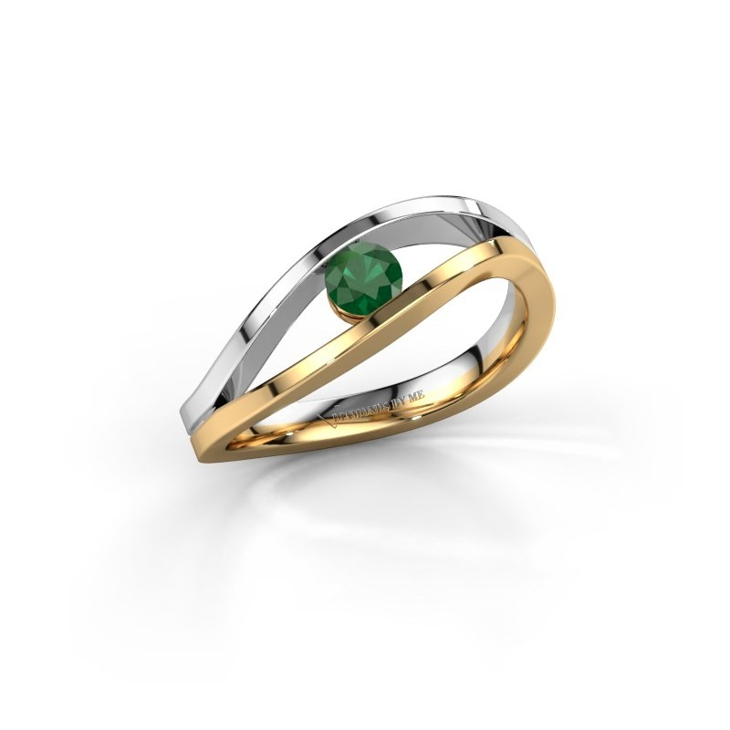 Engagement ring Sigrid 1 585 gold emerald 3.7 mm