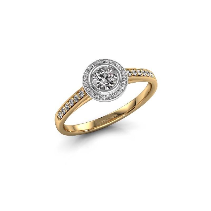Verlovingsring Noud 2 RND 585 goud lab-grown diamant 0.39 crt
