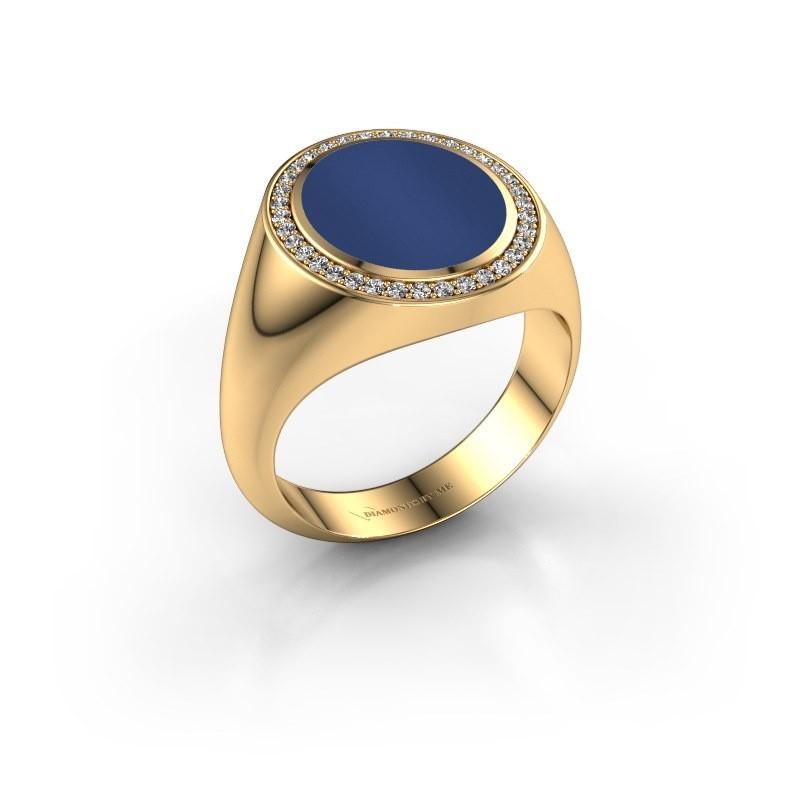 Zegel ring Adam 3 585 goud lapis lazuli 13x11 mm