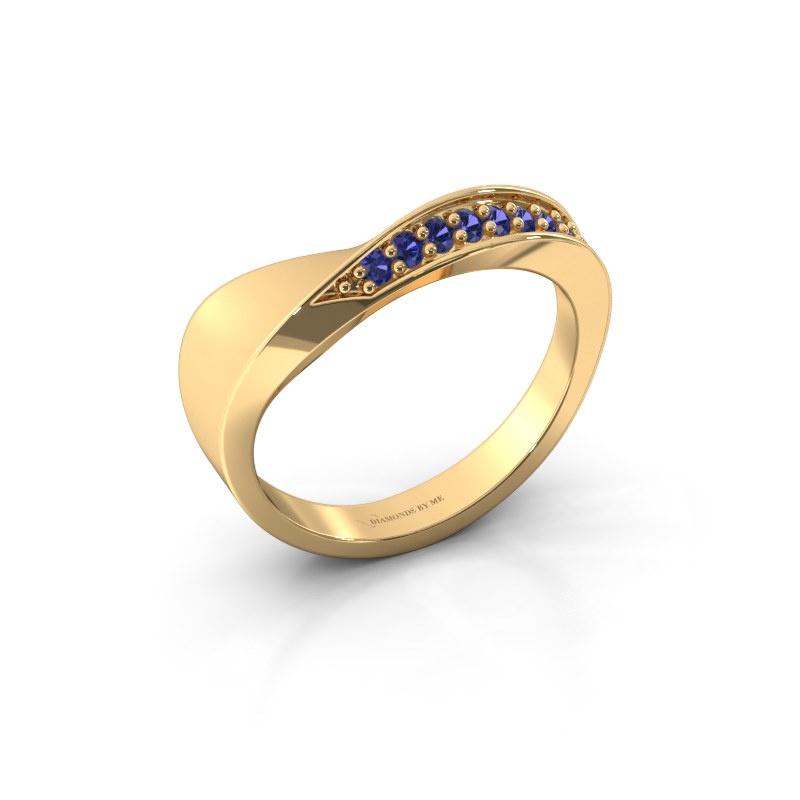Ring Lynn 585 goud saffier 1.6 mm