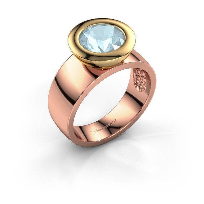 Ring Maxime 585 rose gold aquamarine 8 mm