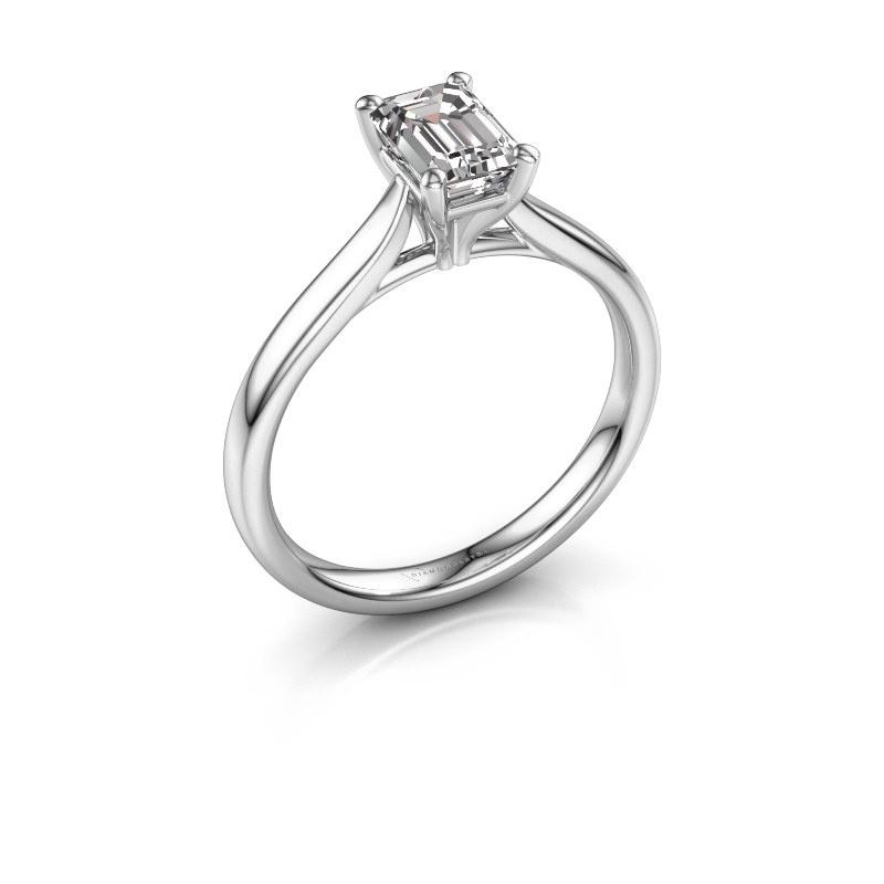 Verlovingsring Mignon eme 1 950 platina lab-grown diamant 0.90 crt
