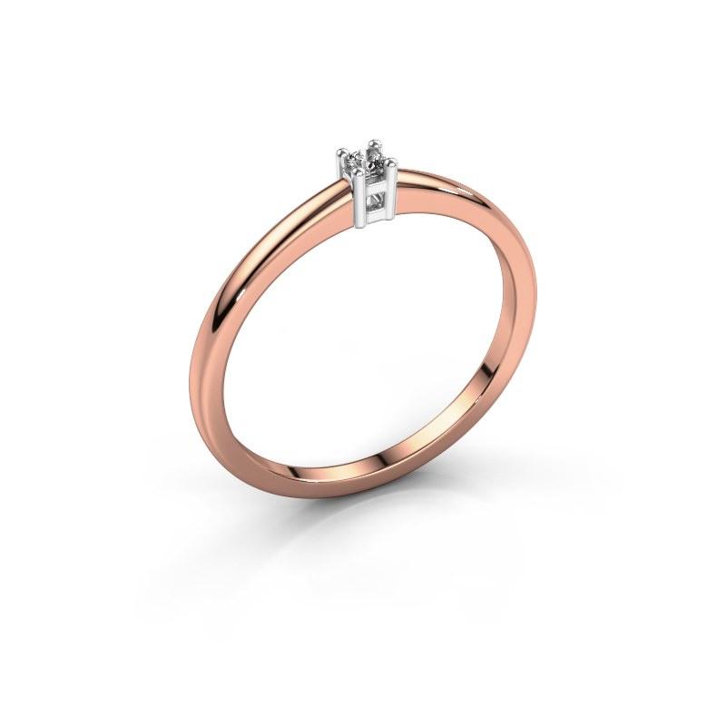 Promise ring Eline 1 585 rosé goud diamant 0.03 crt