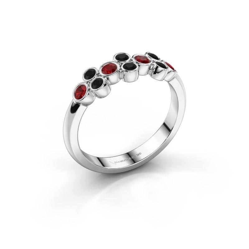 Ring Kayleigh 925 Silber Rubin 2.4 mm