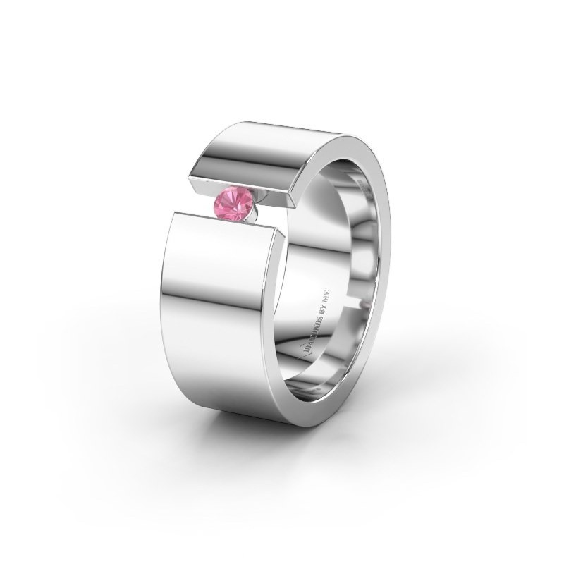 Alliance WH0146L18BP 925 argent saphir rose ±8x2 mm