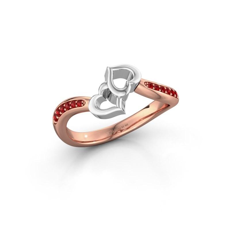 Ring Xaviera 585 Roségold Rubin 1.5 mm